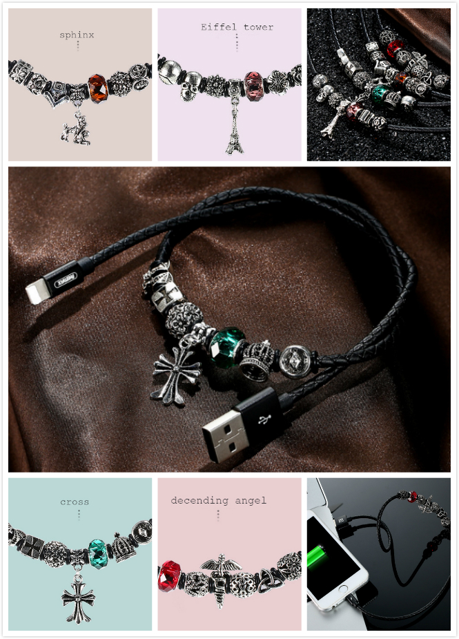 Necklace charging cable