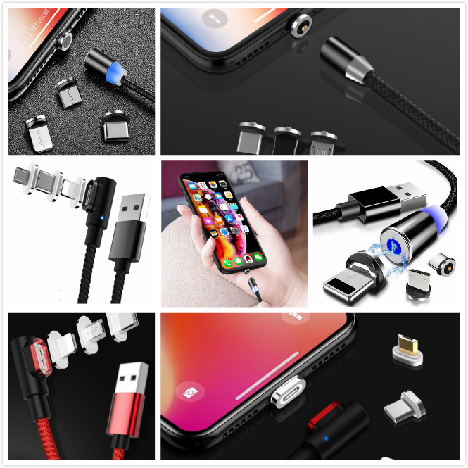 Magnetic phone charging cable