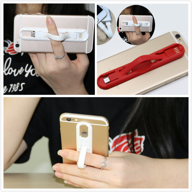 Mobile phone stand/holder power cable