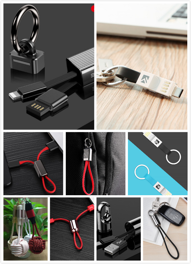 Keychain USB charging cable