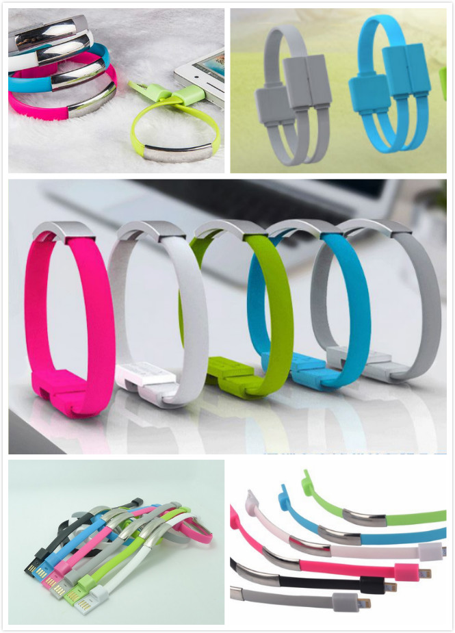 PVC plastic charging wristband for mobile phone