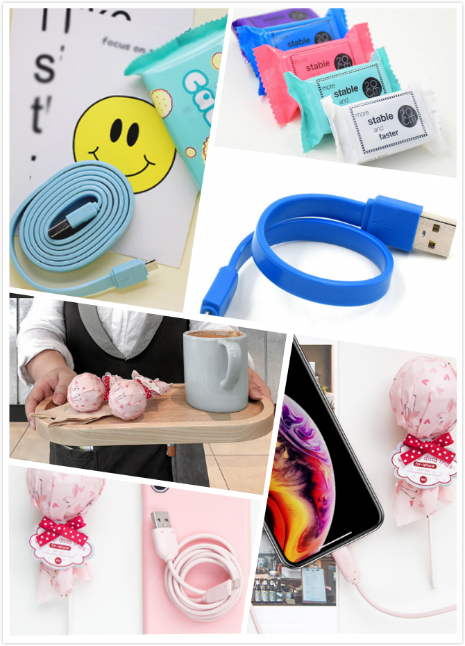 Candy mobile charging cord